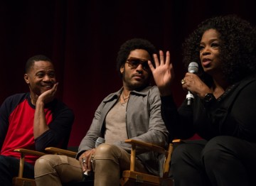 Cuba Gooding, Jr., Lenny Kravitz and Oprah Winfrey