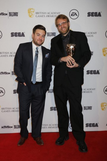 Presenter Alex Brooker presented the BAFTA for Multiplayer to the creators of Hearthstone: Heroes of Warcraft.
