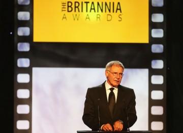 Harrison Ford presented Daniel Craig with the Britannia Award for British Artist of the Year.