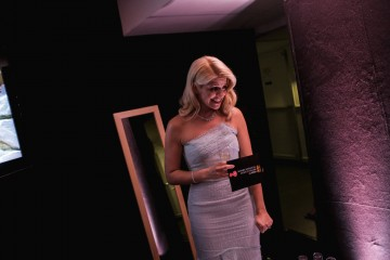 Holly Willoughby gets ready backstage