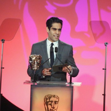 Sacha Dhawan presents the award for Photography: Factual at the British Academy Television Craft Awards in 2015