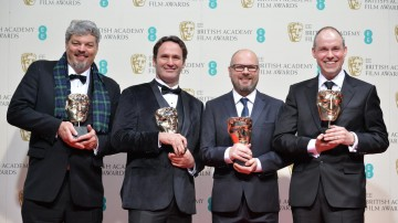 Special Visual Effects winners Ina Hunter, Scott Fisher, Andrew Lockely and Paul Franklin for Interstallar