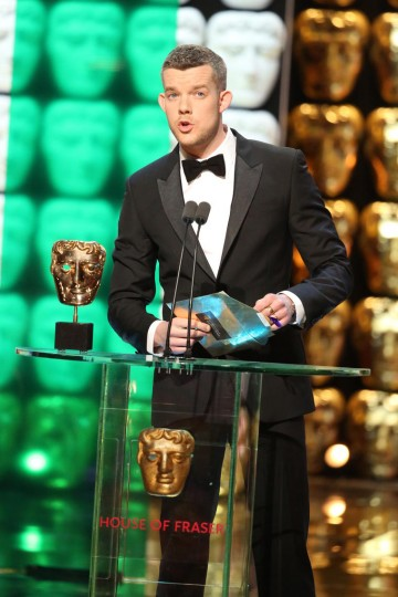 Russell Tovey presents the award for Supporting Actress