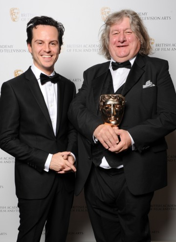 David Roger winner of the Production Design Award for Great Expectations with Sherlock star Andrew Scott