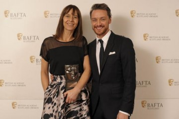 Kate Dickie (Actress Film) with citation reader James McAvoy
