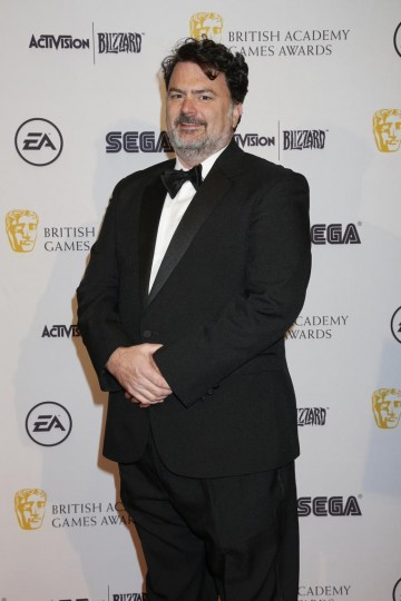 Legendary game designer Tim Schafer (pictured) presented the BAFTA for Game Design to Middle-Earth: Shadow of Mordor