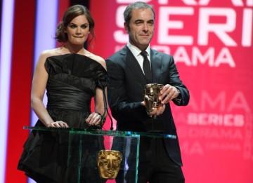 Presenting the first award of the evening Jane Eyre star Ruth Wilson and actor James Nesbitt. (BAFTA/Steve Butler)