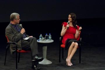 Rachel Weisz and Moderator David Schwartz