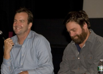 Moderator Patrick Connolly and Zach Galifianakis