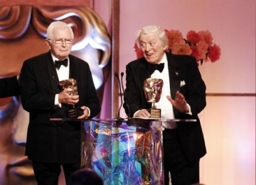 Special Award recipients David Croft and Jimmy Perry look back over a remarkable career that includes comedy classics as Dad's Army, It Ain't Half Hot Mum and Hi-De-Hi! (pic: BAFTA / Richard Kendal).