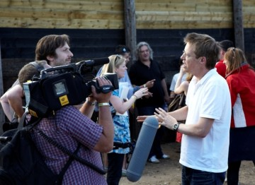 July 17: Simon Mayo backstage after interviewing Paul Greengrass(Picture: Jonathan Birch)
