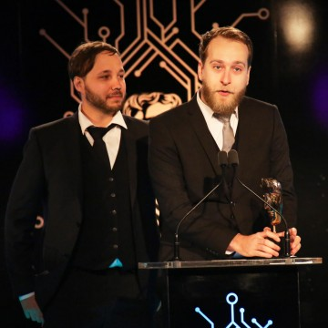 The Ori and the Blind Forest team accept the award for Artistic Achievement