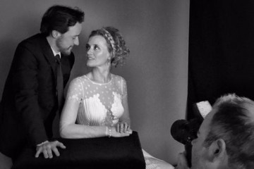 James McAvoy and Anne-Marie Duff in the backstage portrait area at London's Royal Opera House.