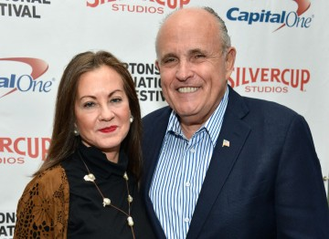 Judith Nathan and Rudy Giuliani.