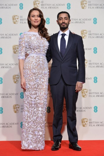 Presenters of the Costume Design award: Olga Kurylenko and Riz Ahmed