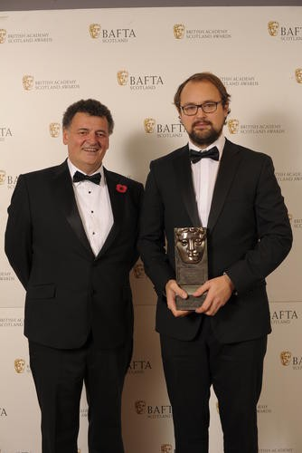 DC Moore (Writer) with citation reader Steven Moffat