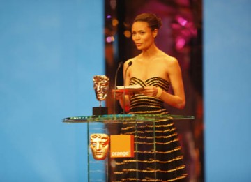 RockNRolla star Thandie Newton presented the Carl Foreman Award for Special Achievement by a British Director, Writer or Producer for their First Feature Film (BAFTA / Marc Hoberman).