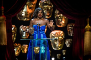Viola Davis accepts her award for Supporting Actress.