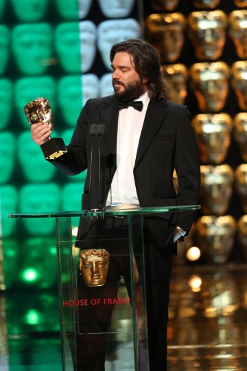 Matt Berry accepts the award for Male Performance In A Comedy Programme
