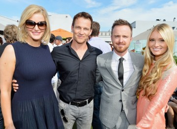 Anna Gunn, Stephen Moyer, Aaron Paul and Lauren Parsekian