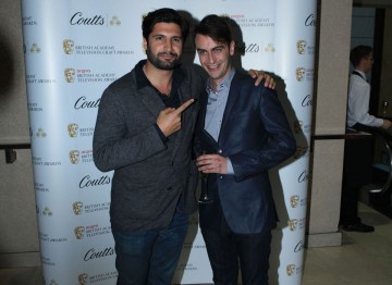 Kayvan Novak and Joseph Gilgun at the Television Nominee's Party 2012