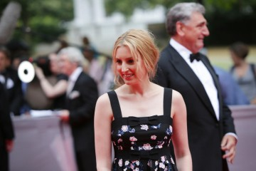 Laura Carmichael, who plays Lady Edith Crawley on the show, arrives on the red carpet.