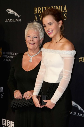 Honorees Dame Judi Dench (L) and Emma Watson