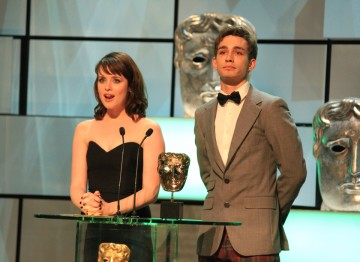 Claire Foy and Robert Sheehan present the award for best Single Drama.
