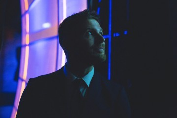 Joel Dommett waits in the wings before presenting Entertainment Craft Team