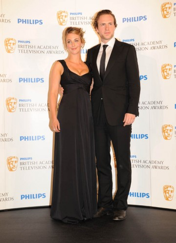 Miranda Raison and Rafe Spall present the International BAFTA (BAFTA/Richard Kendal).