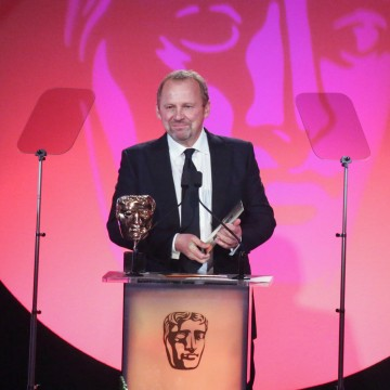 Peter Firth presents the award for Director: Fiction sponsored by Mad Dog Casting at the British Academy Television Craft Awards in 2015