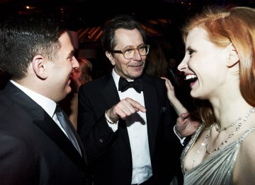 Gary Oldman, Jonah Hill and Jessica Chastain at the 2012 Film Awards