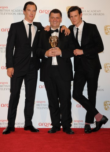 The 2012 Special Award went to Steven Moffat for his outstanding work on shows including Doctor Who and Sherlock. He's pictured here with the 11th actor to play Doctor Who, Matt Smith and Sherlock star Benedict Cumberbatch.