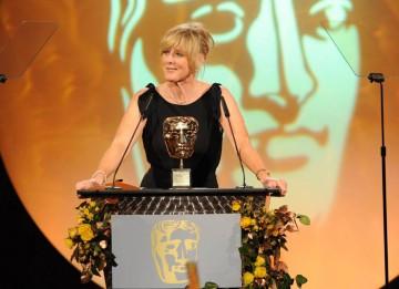 Actress Sarah Lancashire introduces the final BAFTA mask of the eveving, the Academy's Special Award.