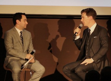 Benedict Cumberbatch and moderator Scott Feinberg.