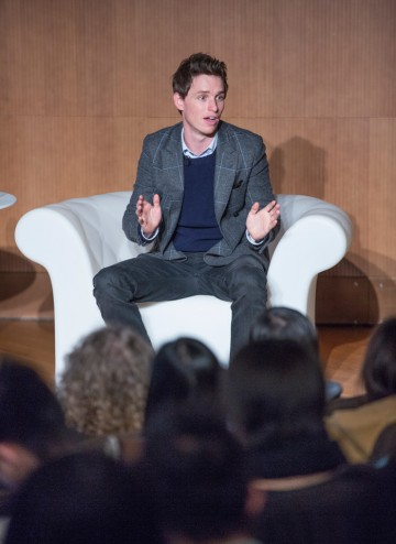Eddie Redmayne delivers a masterclass at the Hong Kong Academy for Performing Arts