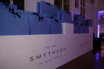 Smythson gift bags ready for guests to take home