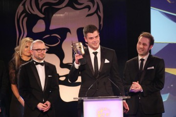 The Alien: Isolation team accept the award for Audio Achievement at the British Academy Games Awards Ceremony in 2015