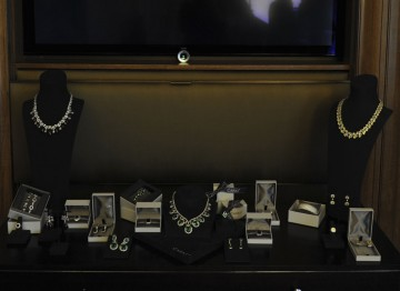 A sparkling display of CARAT* jewellery on offer to nominees and presenters to wear on Awards night.