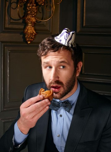 Chris O'Dowd poses for the Television Awards comedy photoshoot in 2010.
