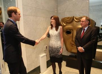 HRH The Duke of Cambridge with Amanda Berry and John Willis.
