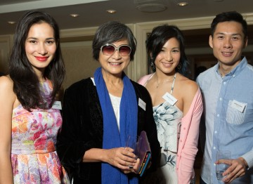 Celina Jade, Cheng Pei-pei, Marsha Yuan and Anthony Chen and the Peninsula Hong Kong.