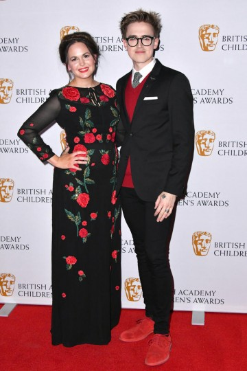 Giovanna and Tom Fletcher presented the Writer Award