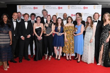 The team behind Exodus: Our Journey to Europe, winners of Factual Series