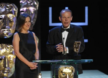 Former political correspondent Andrew Marr and Newsnight presenter Kirsty Walk were an apt choice to present the News Coverage category (BAFTA / Marc Hoberman).