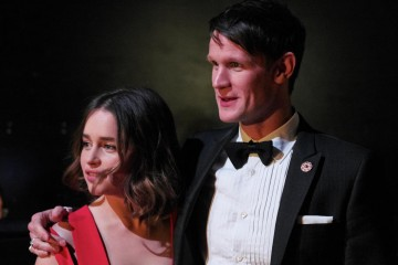 Emilia Clarke and Matt Smith share a tender moment backstage at London's Royal Opera House