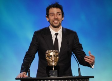 TV comedy star Ralf Little, once a semi-professional footballer, announces the winning game in the Sports category (BAFTA/Brian Ritchie)