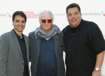 Actor Ralph Macchio, director Bob Giraldi, and actor Steve Schirripa.