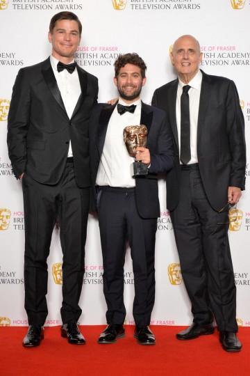 Josh Hartnett with International winners Jay Duplass and Jeffrey Tambor