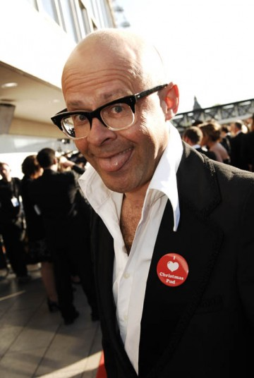 Harry Hill arrived on the red carpet hoping to add to his double BAFTA haul from last year for his TV Burp (BAFTA/ Richard Kendal).